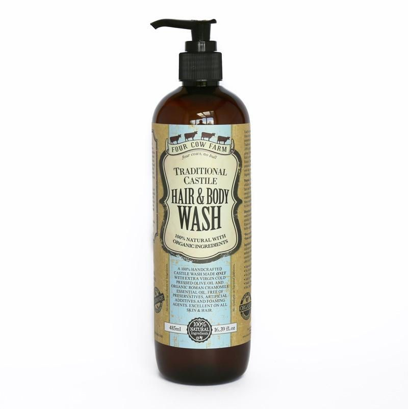 Castile soap four cow farm hair and body wash