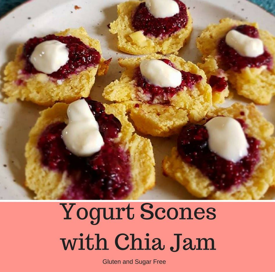 Gluten Free Yogurt Scones with Chia Jam