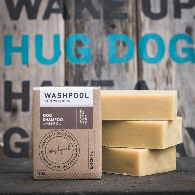 Dog soap. Dog shampoo with neem oil