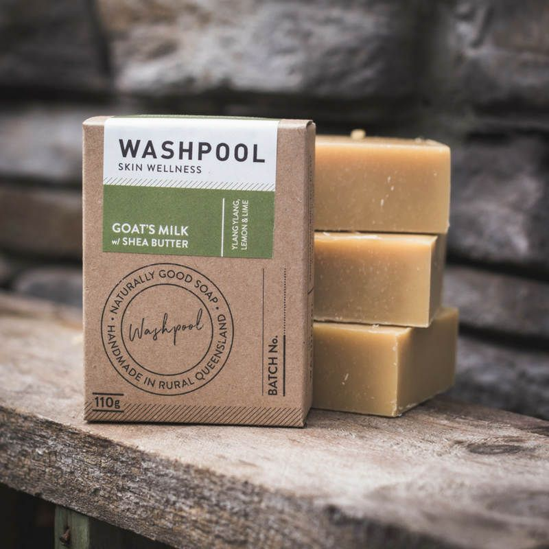 Washpool Goats Milk Soap w Shea Butter Ylang Ylang, Lemong & Lime