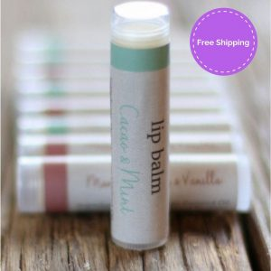 natural lip balm. Washpool cacao and mint