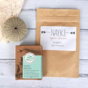 Organic Nayki Facial Mask & Bondi Breeze Soap. Detoxify