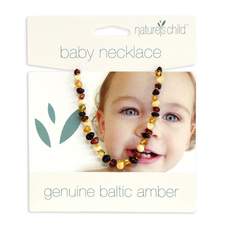 Natures Child Teething amber necklace multi