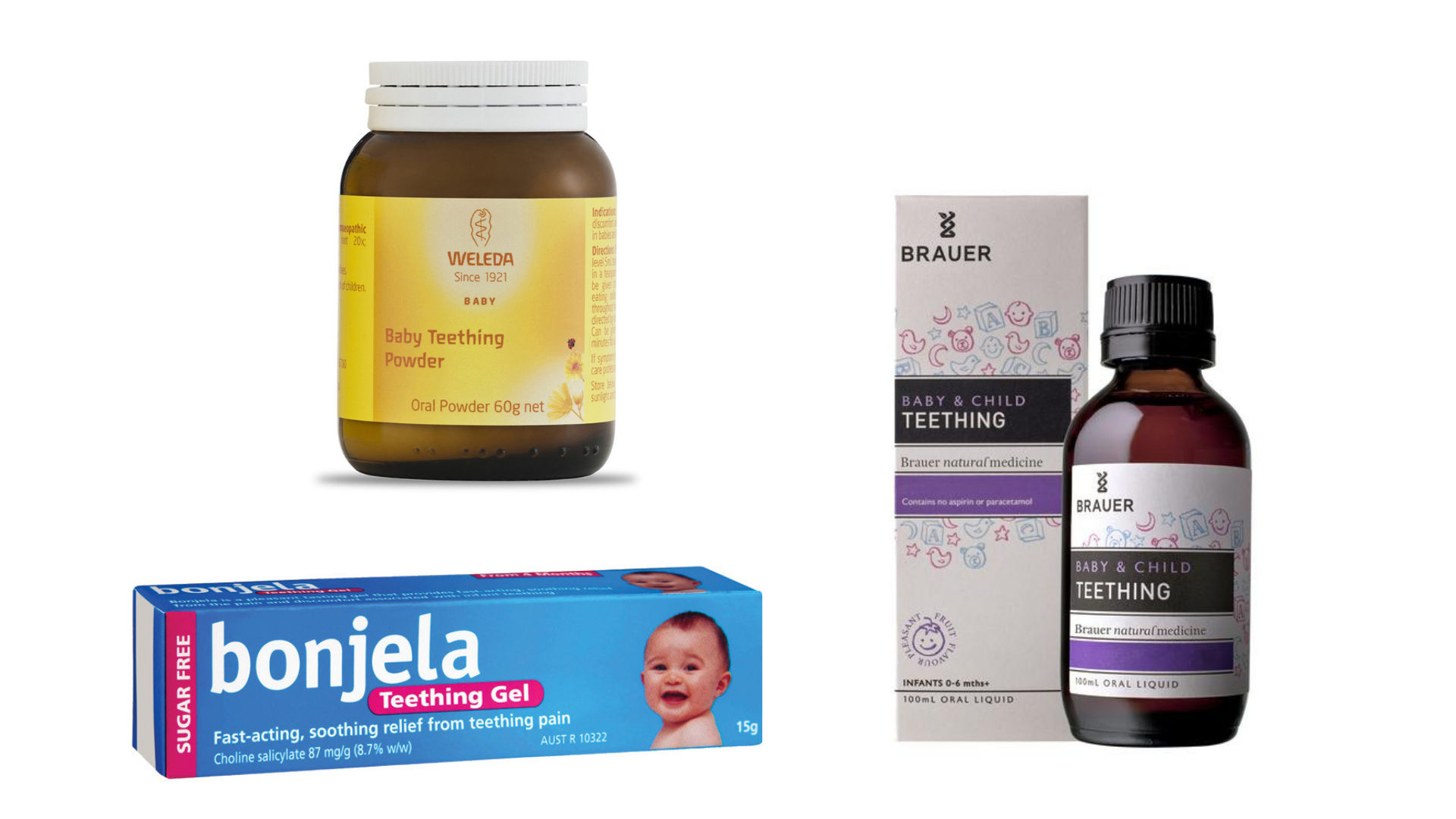 Teething medication choices