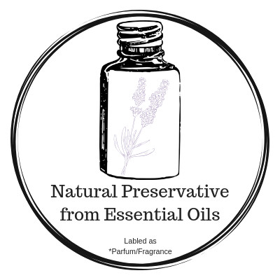 Naturally preserved with essential oils