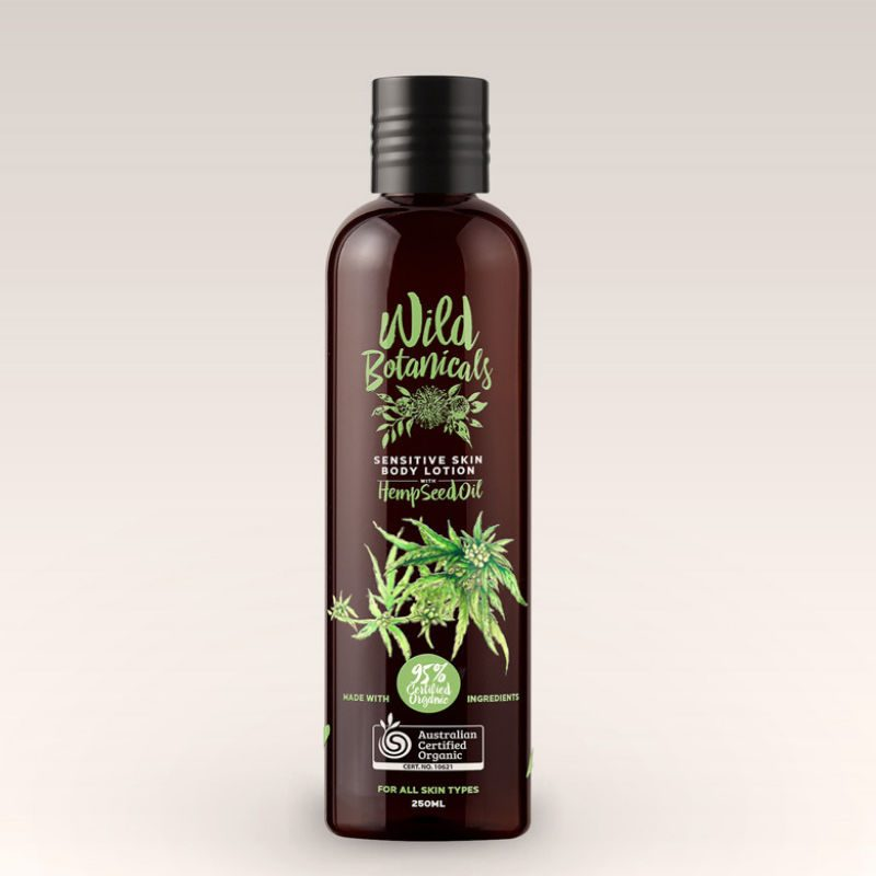 Wild Botanicals Sensitive skin body lotion with hemp seed oil