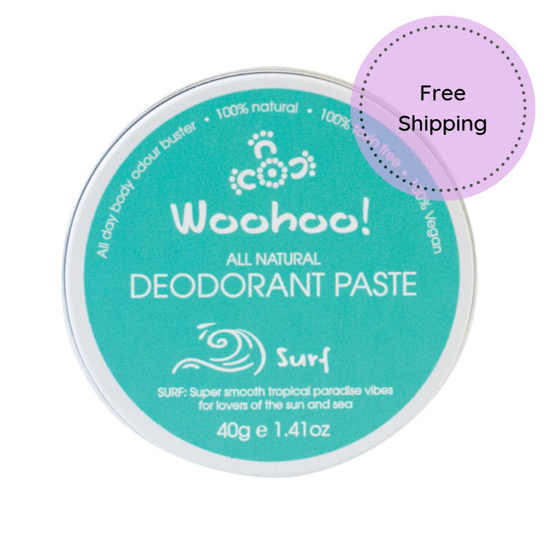 Woohoo all natural deodorant paste free ship Surf