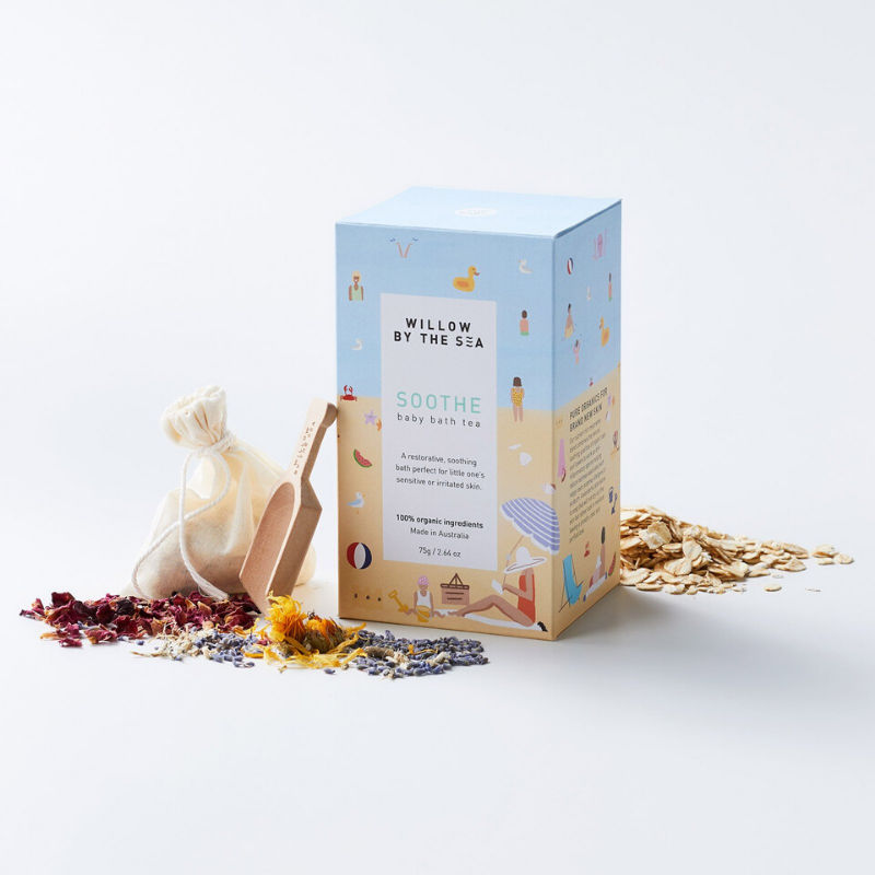 Bath tea sooth Willow by the sea Open
