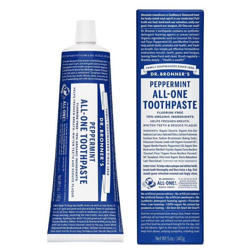 Peppermint Toothpaste Dr Bronners