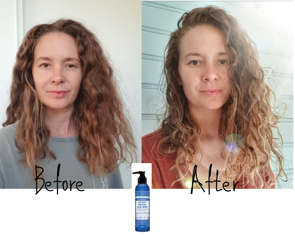 Dr Bronners Hair creme for curly girl