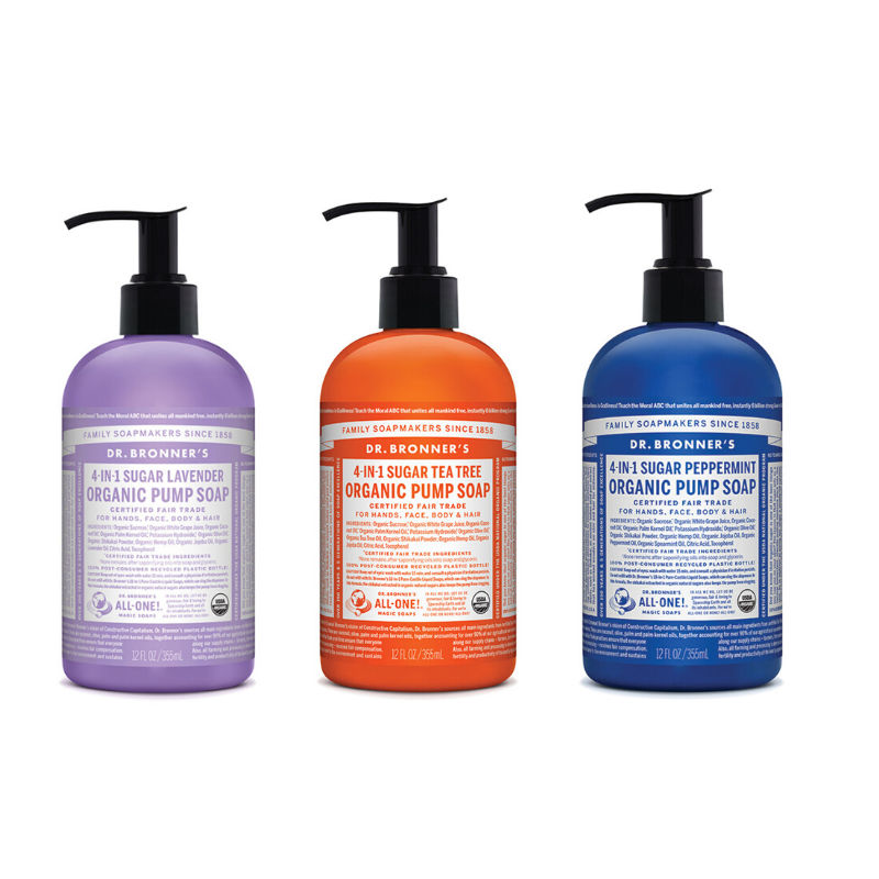 pump soap Dr Bronners