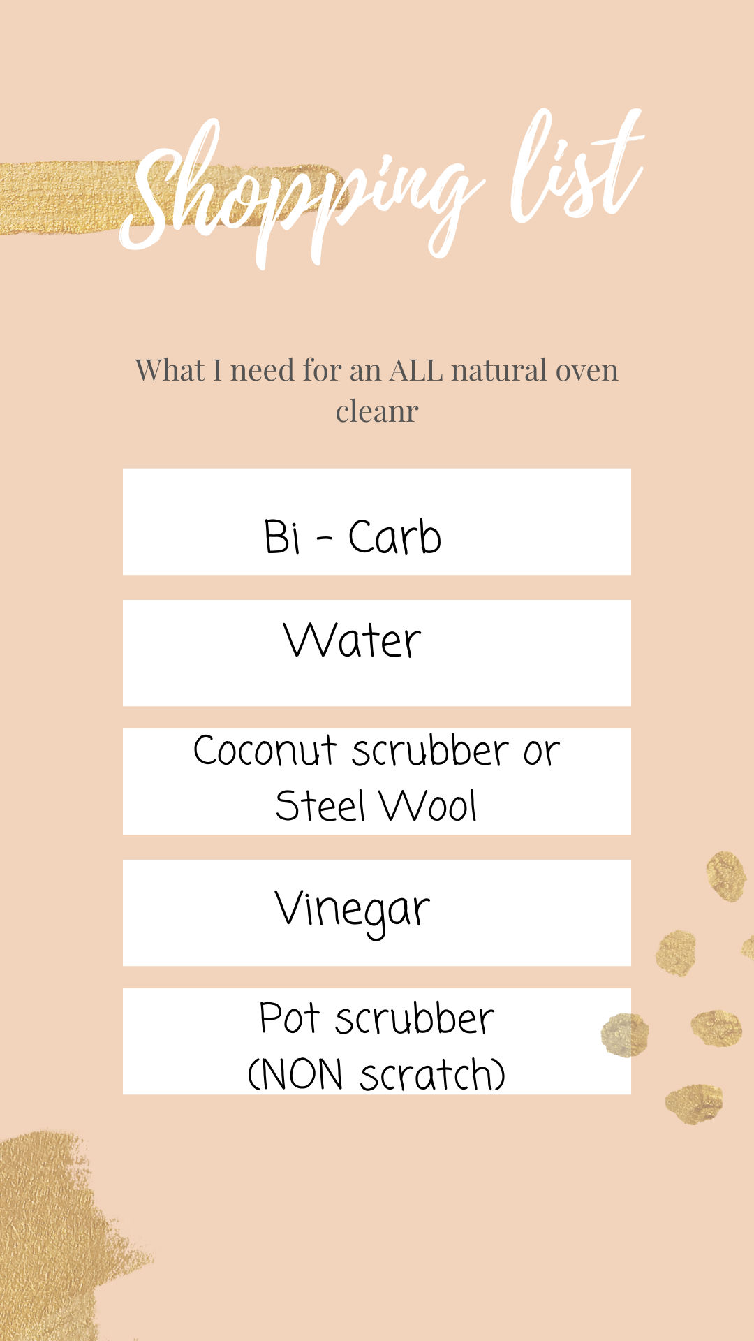 What you need for a DIY natural oven cleaner